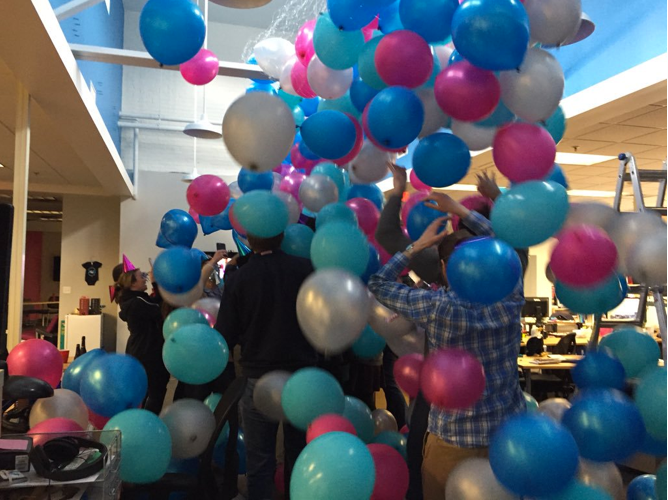 ActBlue 1 billion balloon drop