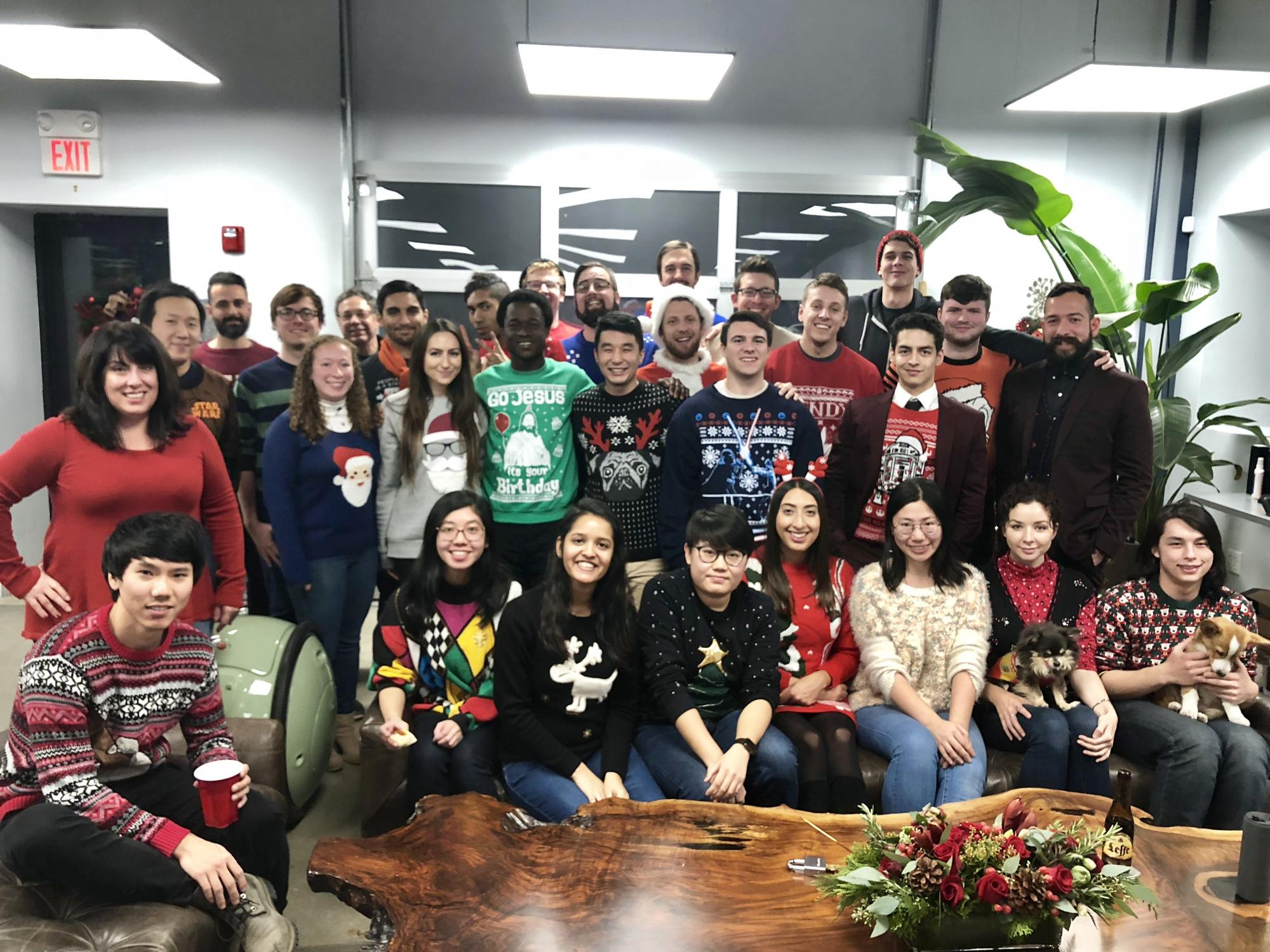 PFF ugly sweater holiday party