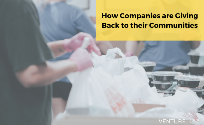 How Companies are Giving Back to their Communities banner image