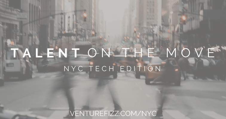 Talent on the Move - NYC Tech - May 13, 2019 banner image