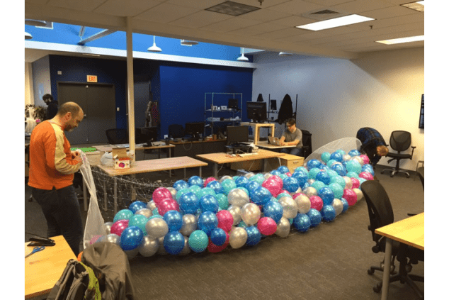 ActBlue Balloon Drop Prep