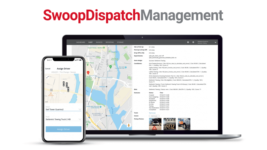Swoop Dispatch Management:Tracking & Event Details