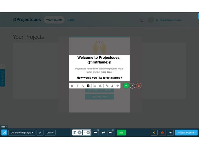 Appcues Product Screenshot
