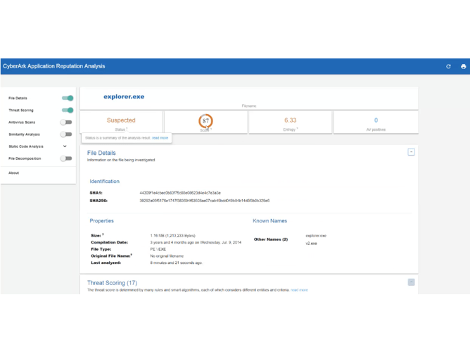 CyberArk Product Screenshot