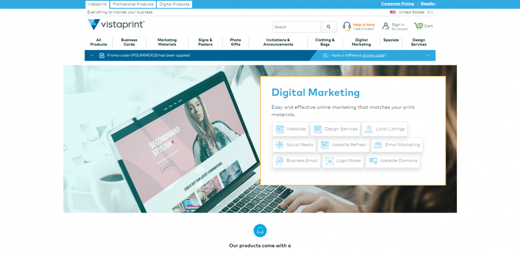 VistaPrint Digital Marketing