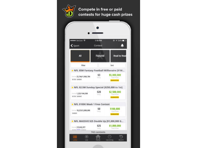 DraftKings Mobile Screenshot
