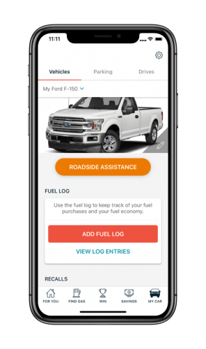 GasBuddy App Car Profile