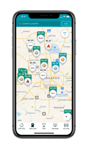 GasBuddy App Map View
