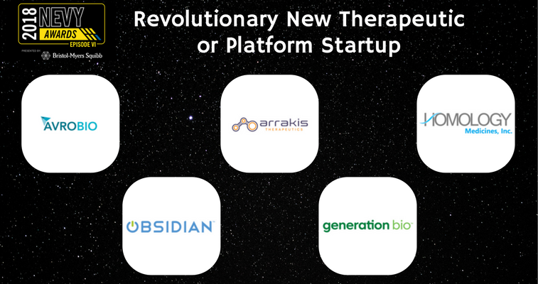 2018 NEVYs Revolutionary New Therapeutic or Platform Startup