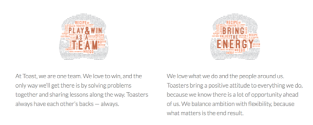 Toast Company Values