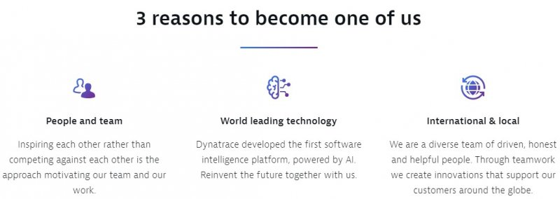 3 reasons to join Dynatrace